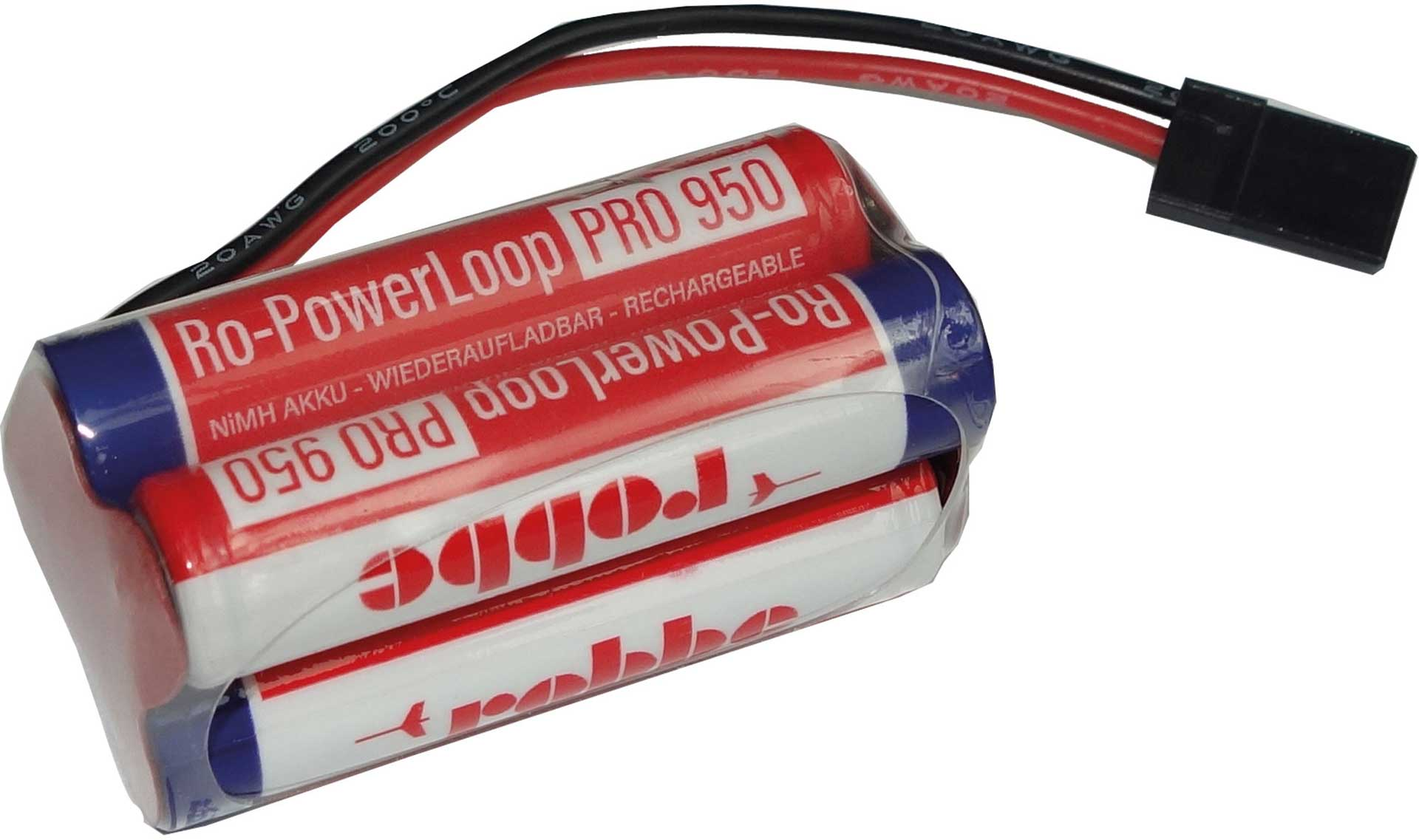 ROBBE RO-POWER LOOP MICRO AAA 950 MAH 4,8 VOLT RECEIVER BATTERY WITH JR CABLE
