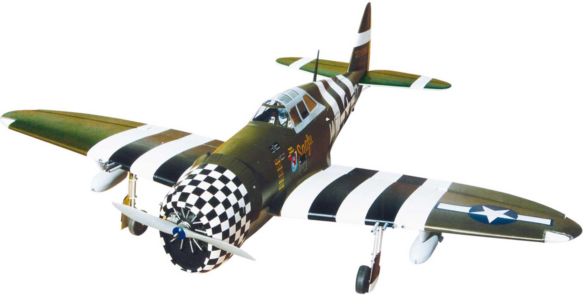 """SG-MODELS P-47G THUNDERBOLT 60 """"SNAFU"""" MIT EINZIEHFAHRWERK UND BELEUCHTUNG"""