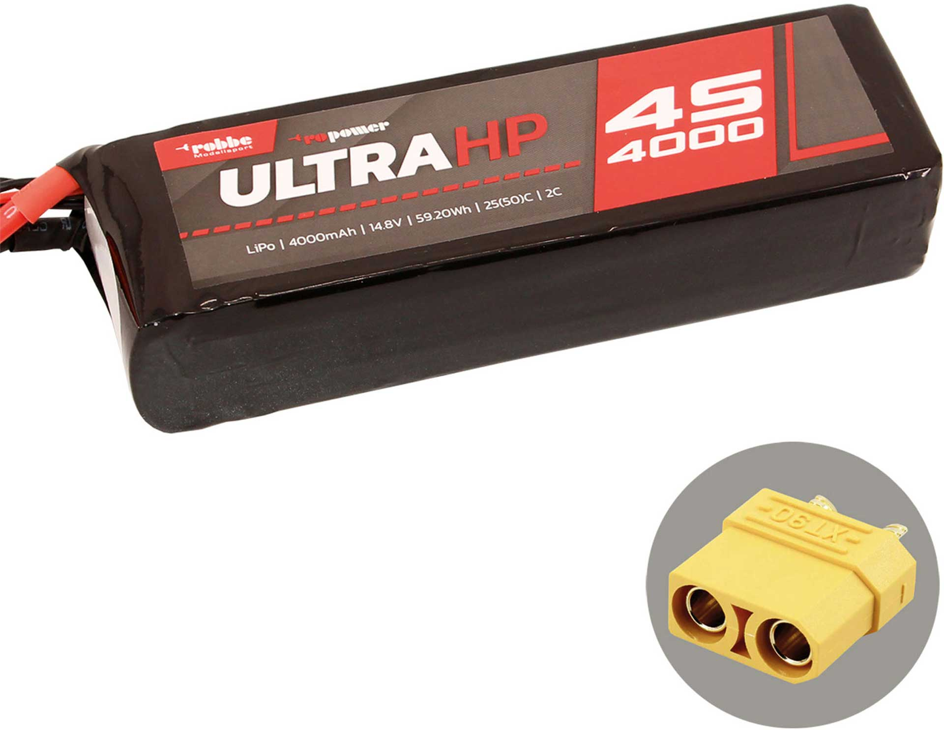 ROBBE RO-POWER ULTRA HP 4000MAH 14,8 VOLT 4S 25(50)C LIPO AKKU