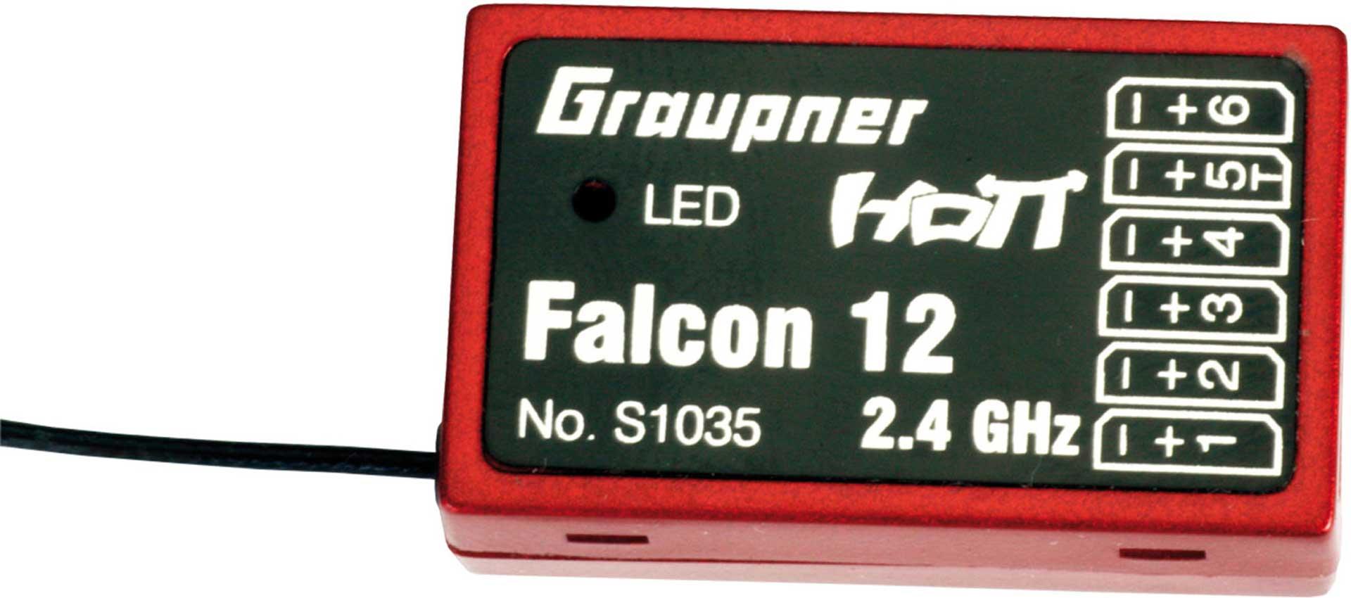 GRAUPNER FALCON 12 6-KANAL GYRO HOTT EMPFäNGER