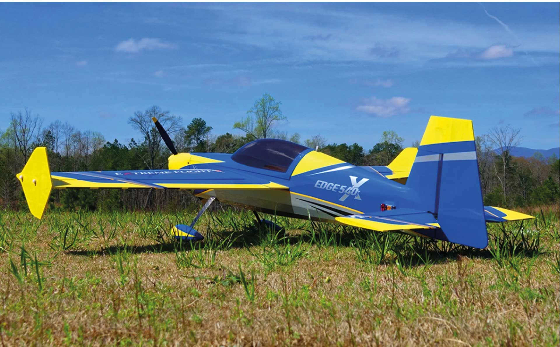"EXTREMEFLIGHT-RC EDGE 540 60 ""V2 BLUE/YELLOW ARF"