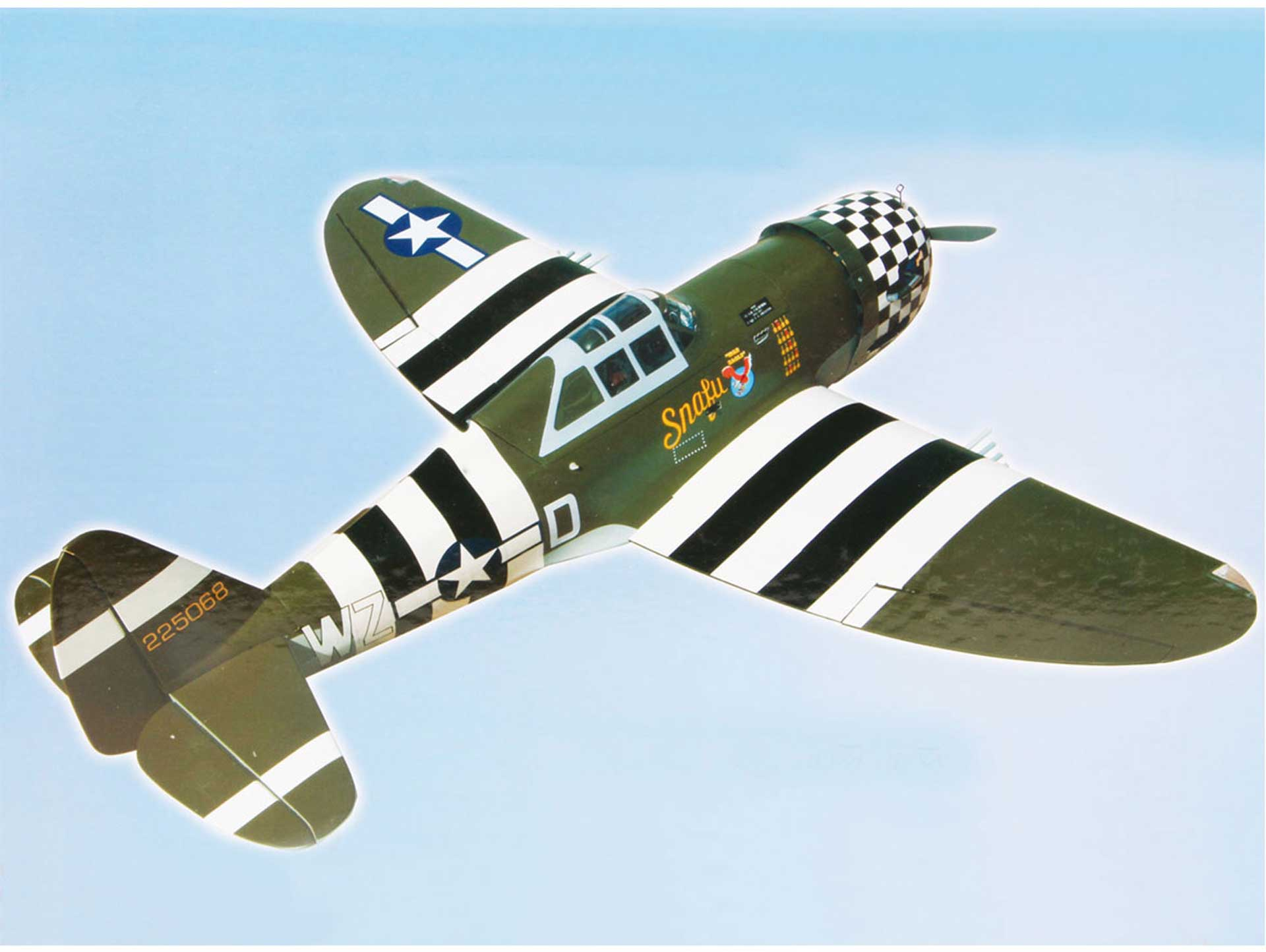 """SG-MODELS P-47G THUNDERBOLT 60 """"SNAFU"""" WITH RETRACTS AND LIGHTING"""