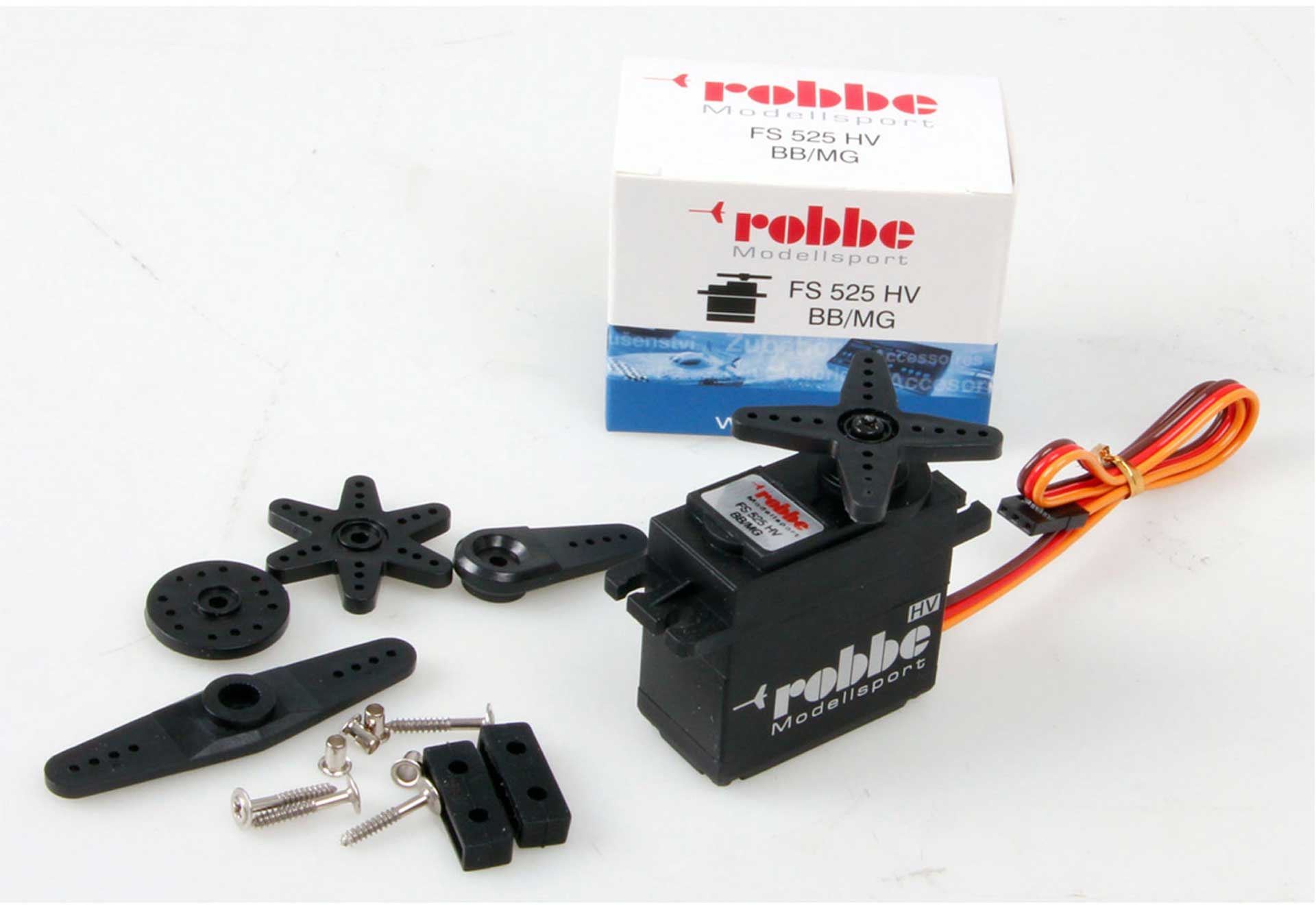 Robbe Modellsport FS 525 BB MG HV SERVO WITH PART ALUMINIU HOUSING