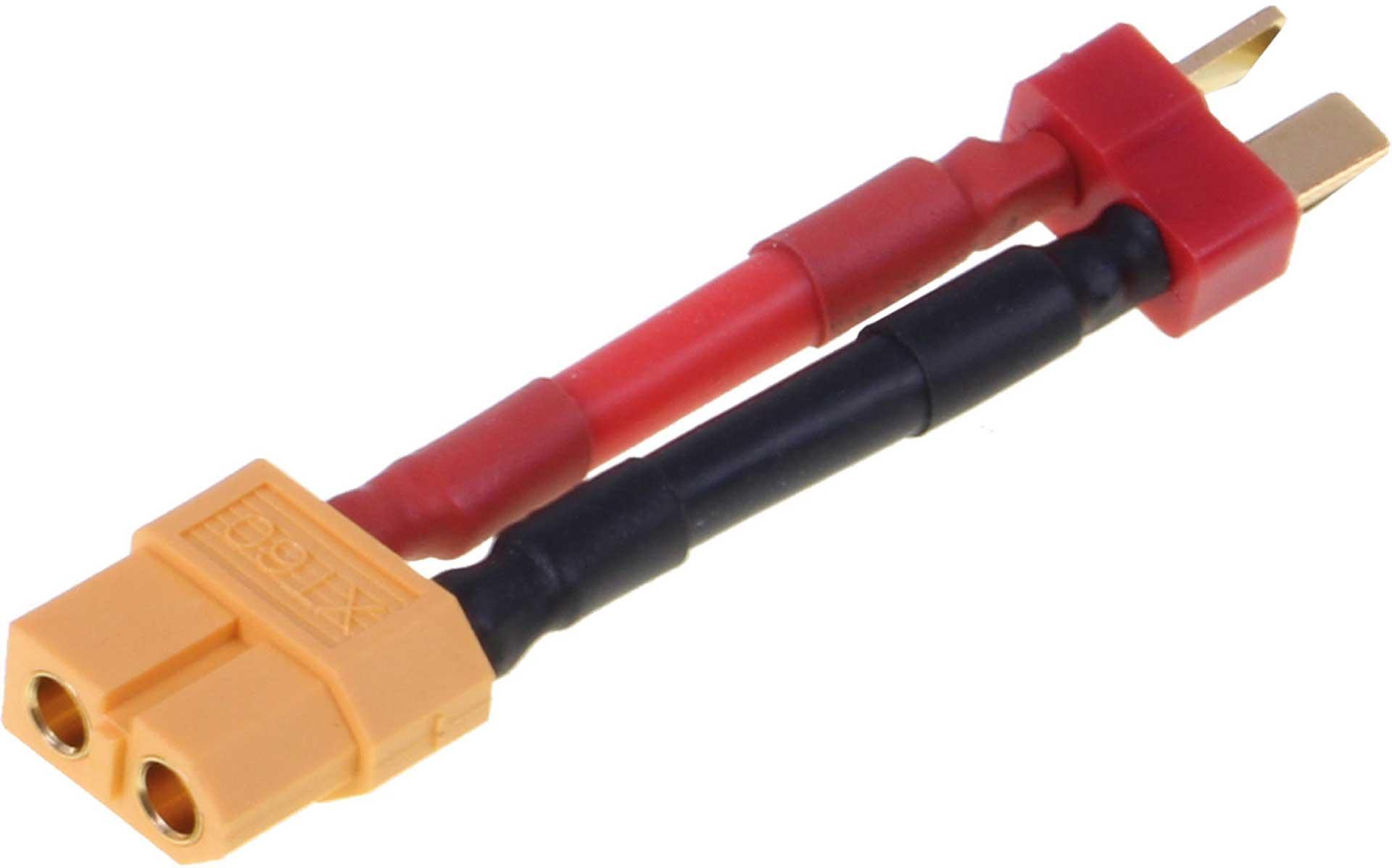 ROBBE ADAPTERKABEL T STECKER AUF XT-60 BUCHSE 12AWG/3,3MM¶ý 30MM 1STK.