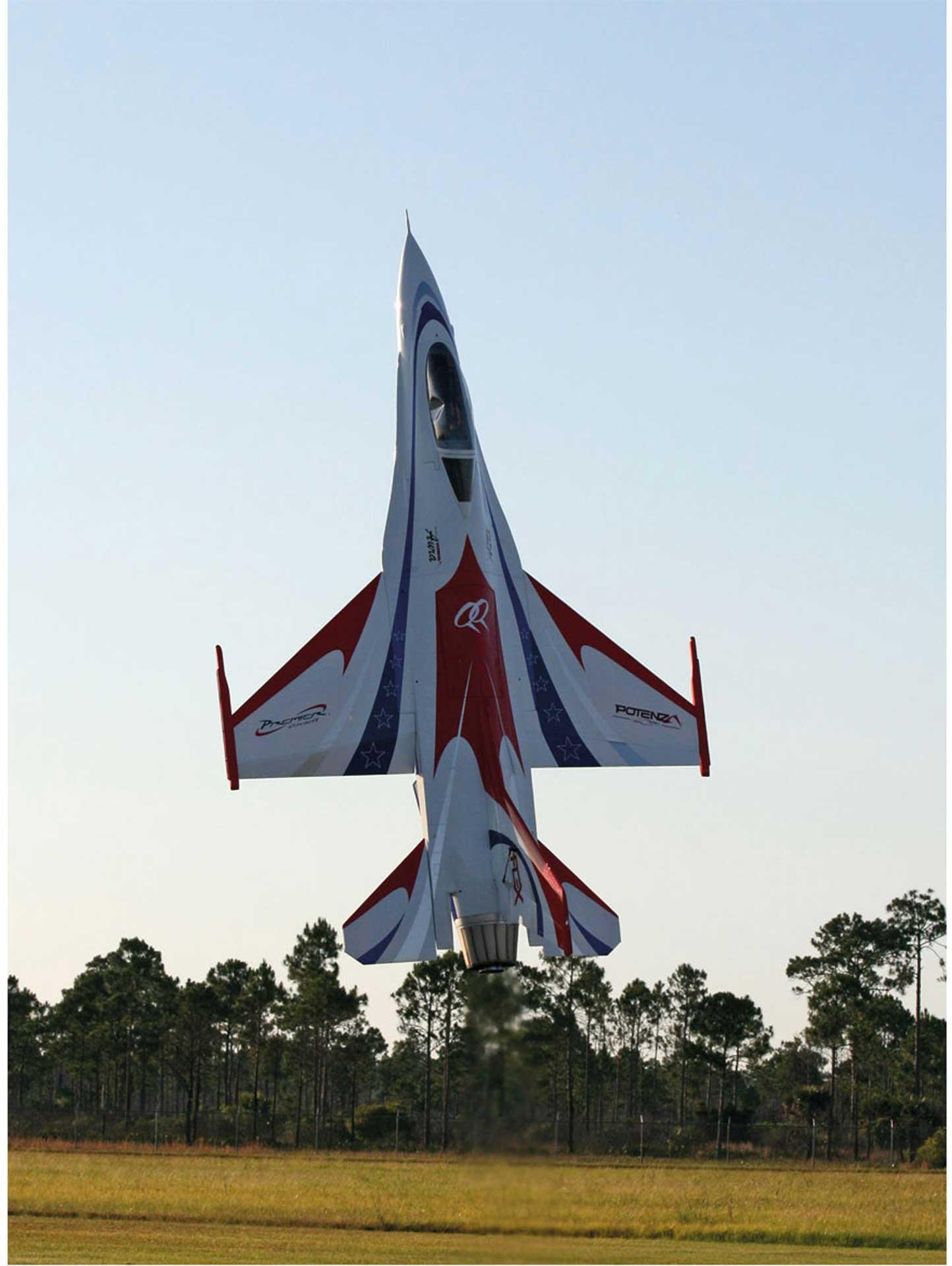 PREMIER AIRCRAFT F-16 QQ ARF 3D JET ROT