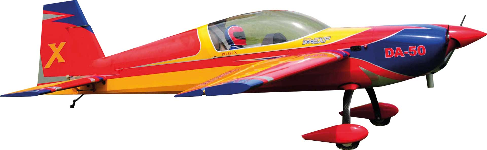 """EXTREMEFLIGHT-RC EXTRA 300 85"""" RED / YELLOW / BLUE ARF glow/ELECTRIC VERSION"""