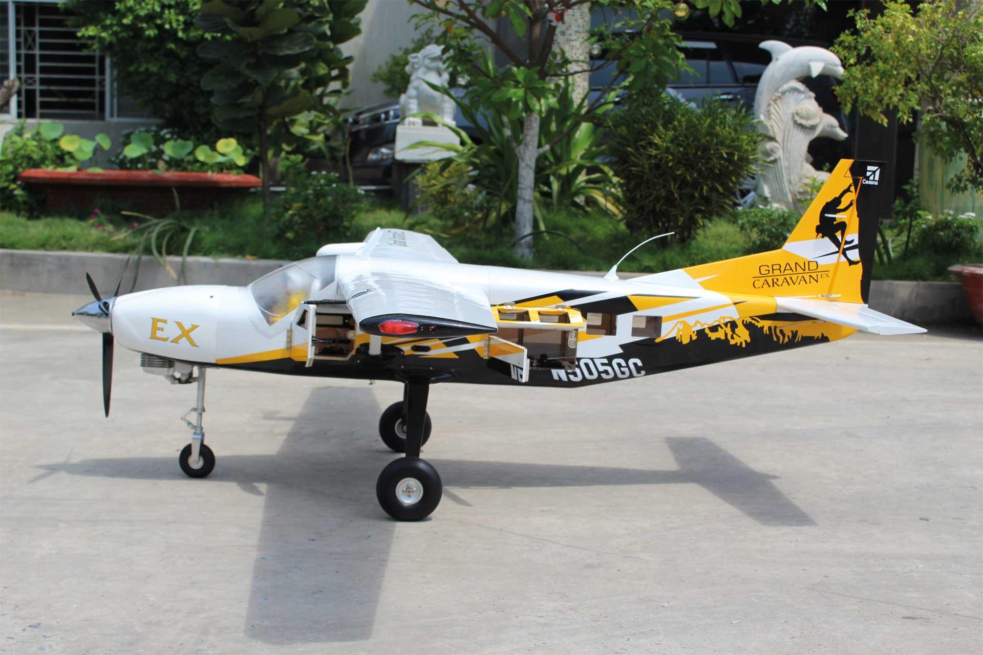 """Seagull Models ( SG-Models ) Cessna 208 Grand Caravan EX 85"""" 45cc schwarz/gelb"""
