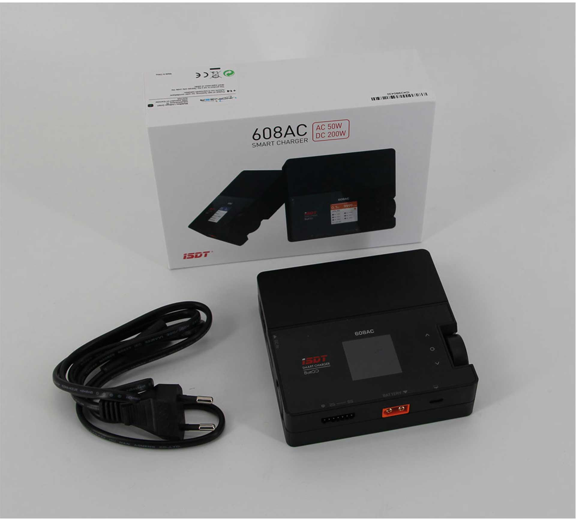 ISDT 608AC SMART CHARGER AC/DC 60/200W BATTGO™ READY -8Q 1-6S LOADER