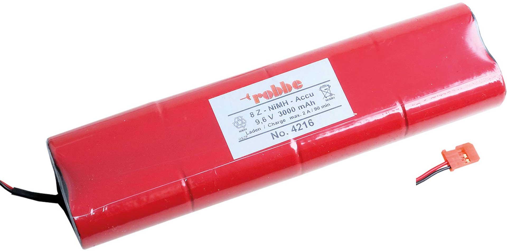 ROBBE SENDERAKKU 9,6V 3300MAH F-14-FC-16-FC28