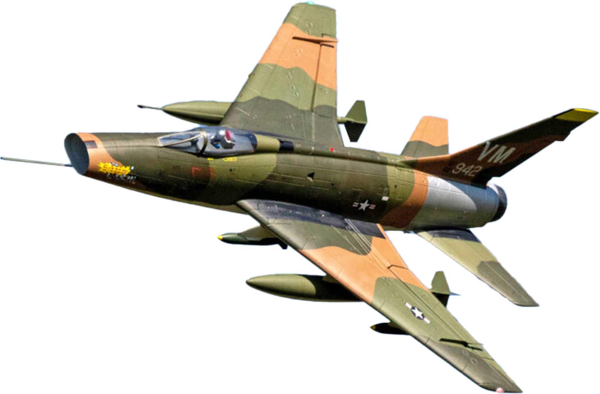 PREMIER AIRCRAFT F-100D SUPER SABRE GRÜN E-IMPELLER JET