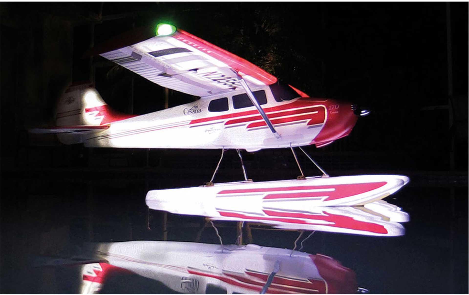 PREMIER AIRCRAFT CESSNA 170 SUPER PNP NIGHT MIT AURA 8 UND NACHTFLUGBELEUCHTUNG