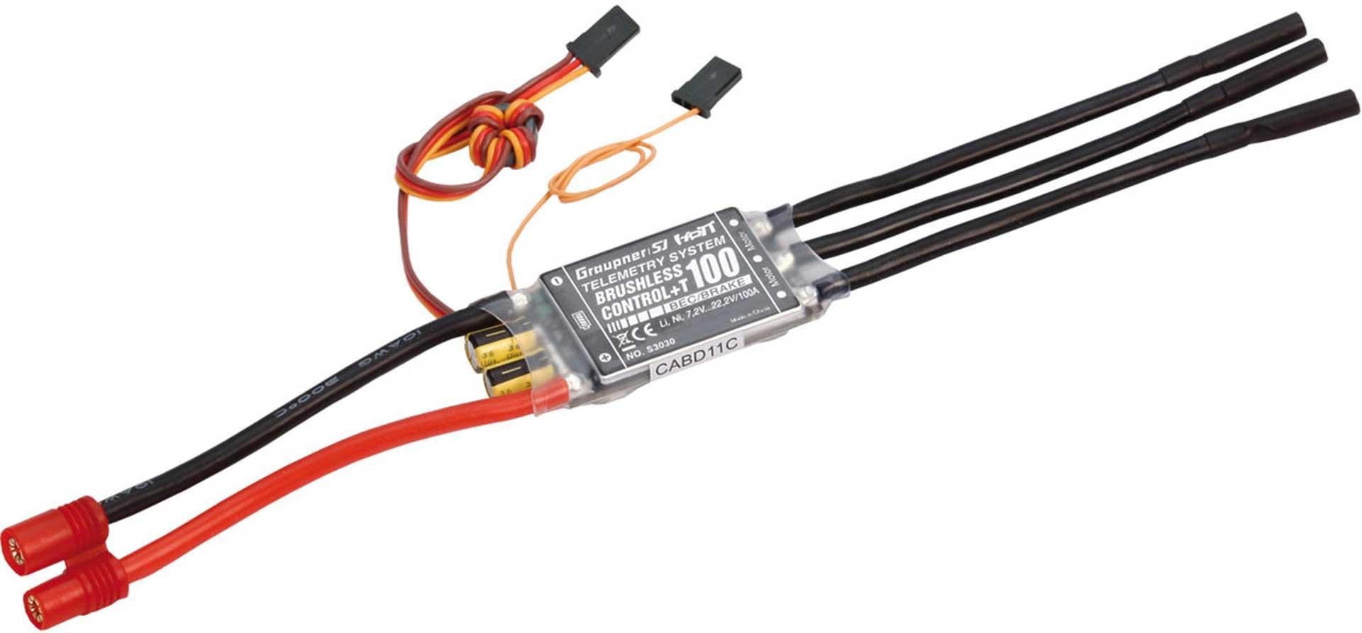 GRAUPNER BRUSHLESS CONTROL+ T 100 BEC G6 2-6S