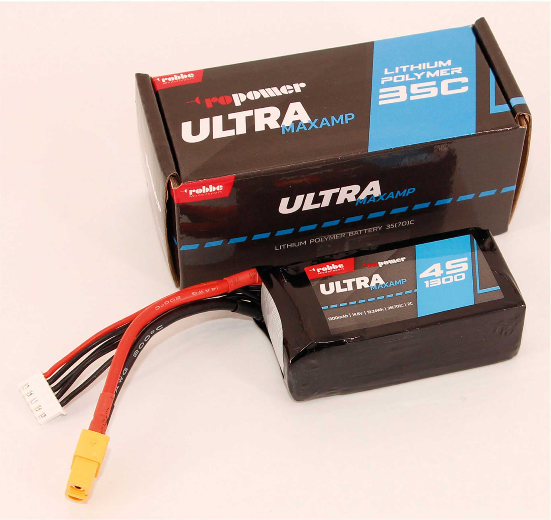 Robbe Modellsport RO-POWER ULTRA MAXAMP 1300MAH 14,8 VOLT 4S 35(70)C LIPO AKKU
