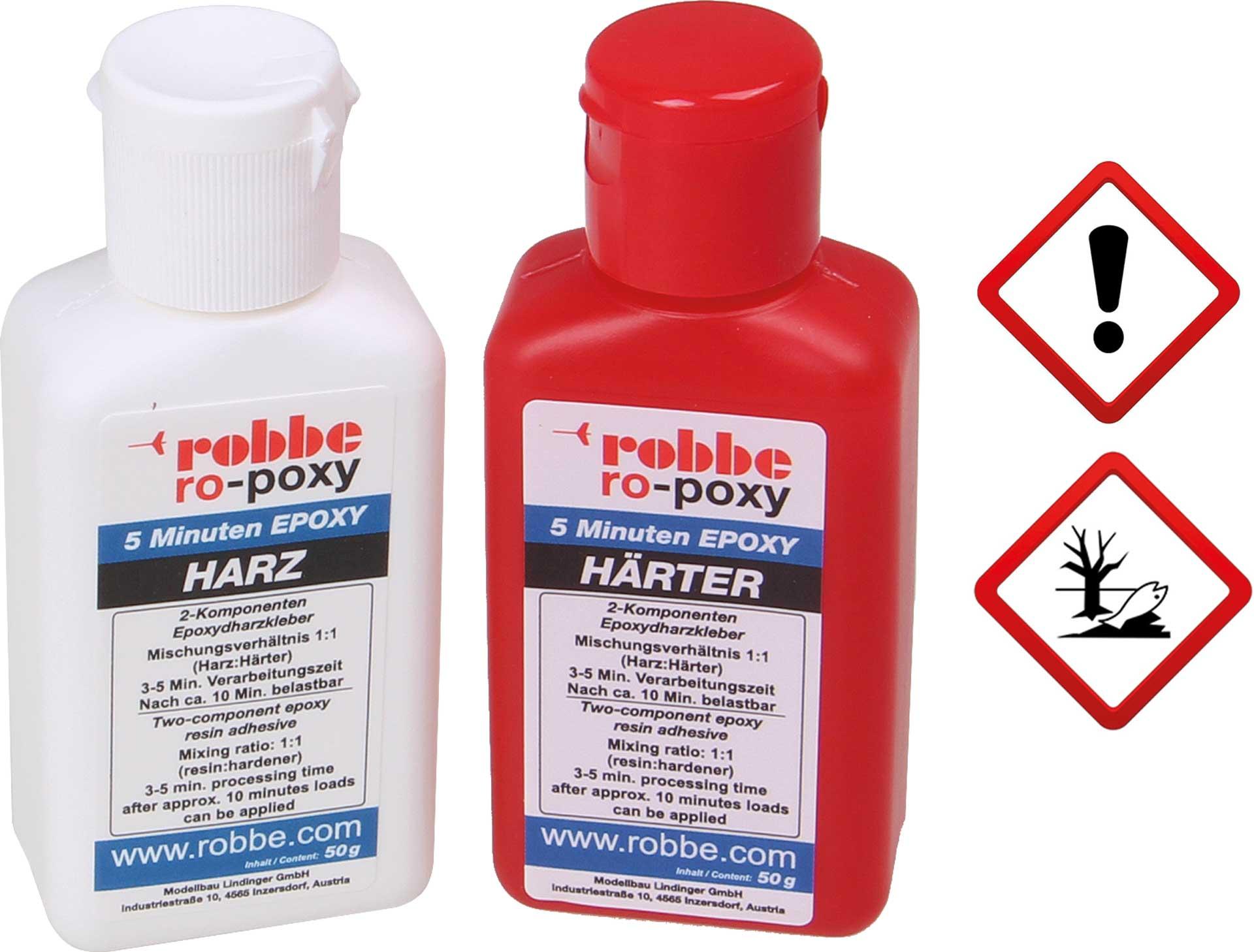 Robbe Modellsport RO-POXY 5 MINUTEN EPOXYDHARZKLEBER 100G JE 50G HARZ+HÄRTER