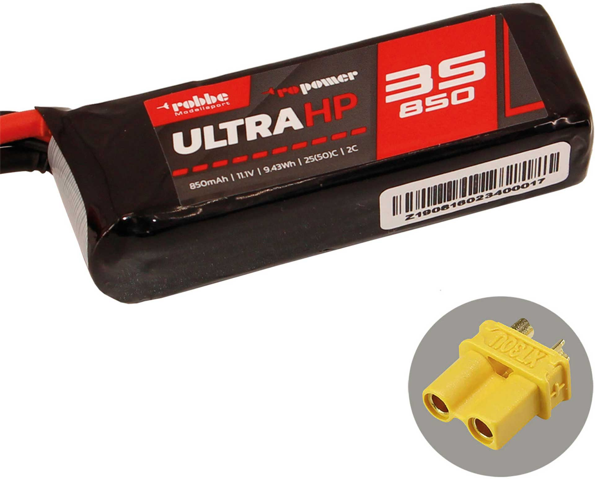 ROBBE RO-POWER ULTRA HP 850MAH 11,1 VOLT 3S 25(50)C LIPO AKKU