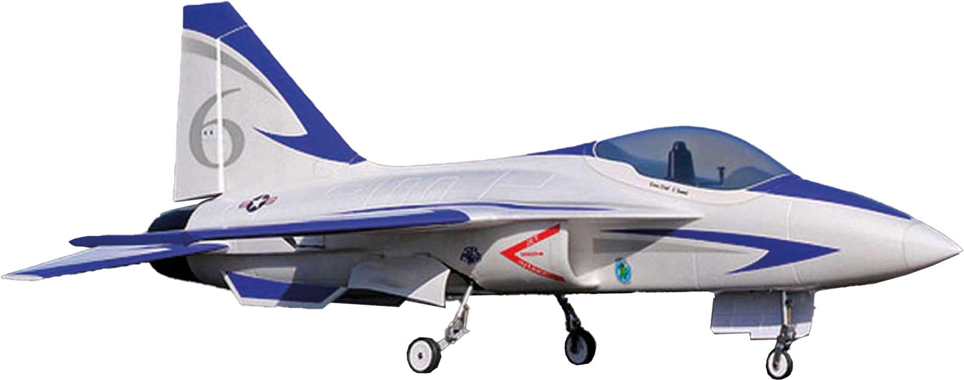 PREMIER AIRCRAFT FLEXJET 90MM EDF IMPELLER JET SUPER PNP BLAU MIT AURA 8 AFCS