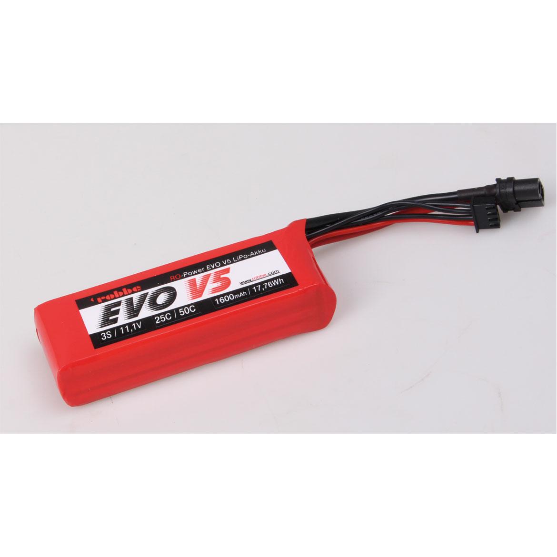 ROBBE RO-POWER EVO V5 25(50)C 11,1 VOLT 3S 1600MAH LIPO AKKU