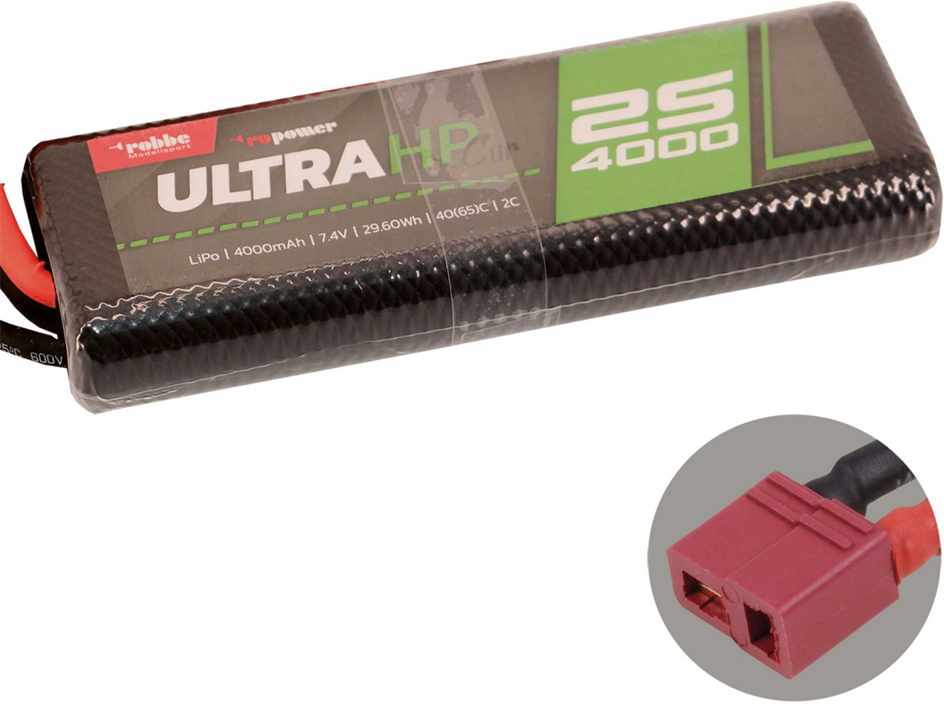 ROBBE RO-POWER ULTRA HP CAR 4000MAH 7,4 VOLT 2S 40(65)C LIPO AKKU