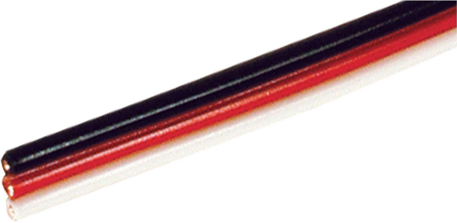 Robbe Modellsport Servokabel Futaba 100 Meter flach 0,33mm² (22AWG) PVC Meterware