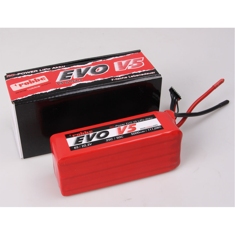 ROBBE RO-POWER EVO V5 25(50)C 22,2 VOLT 6S 5000MAH LIPO BATTERY