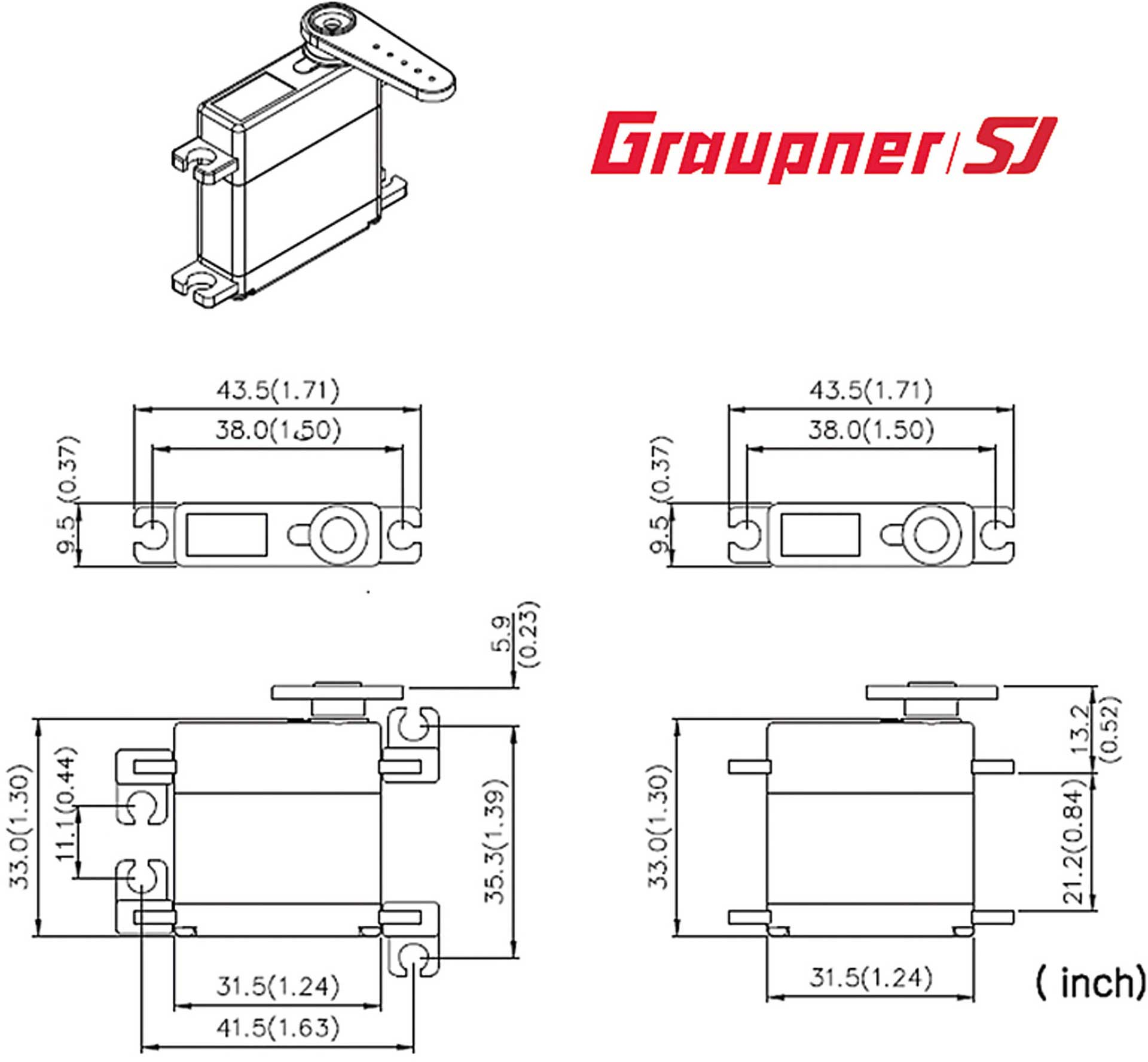 GRAUPNER DES  448 BB MG DIGITAL AREA SERVO