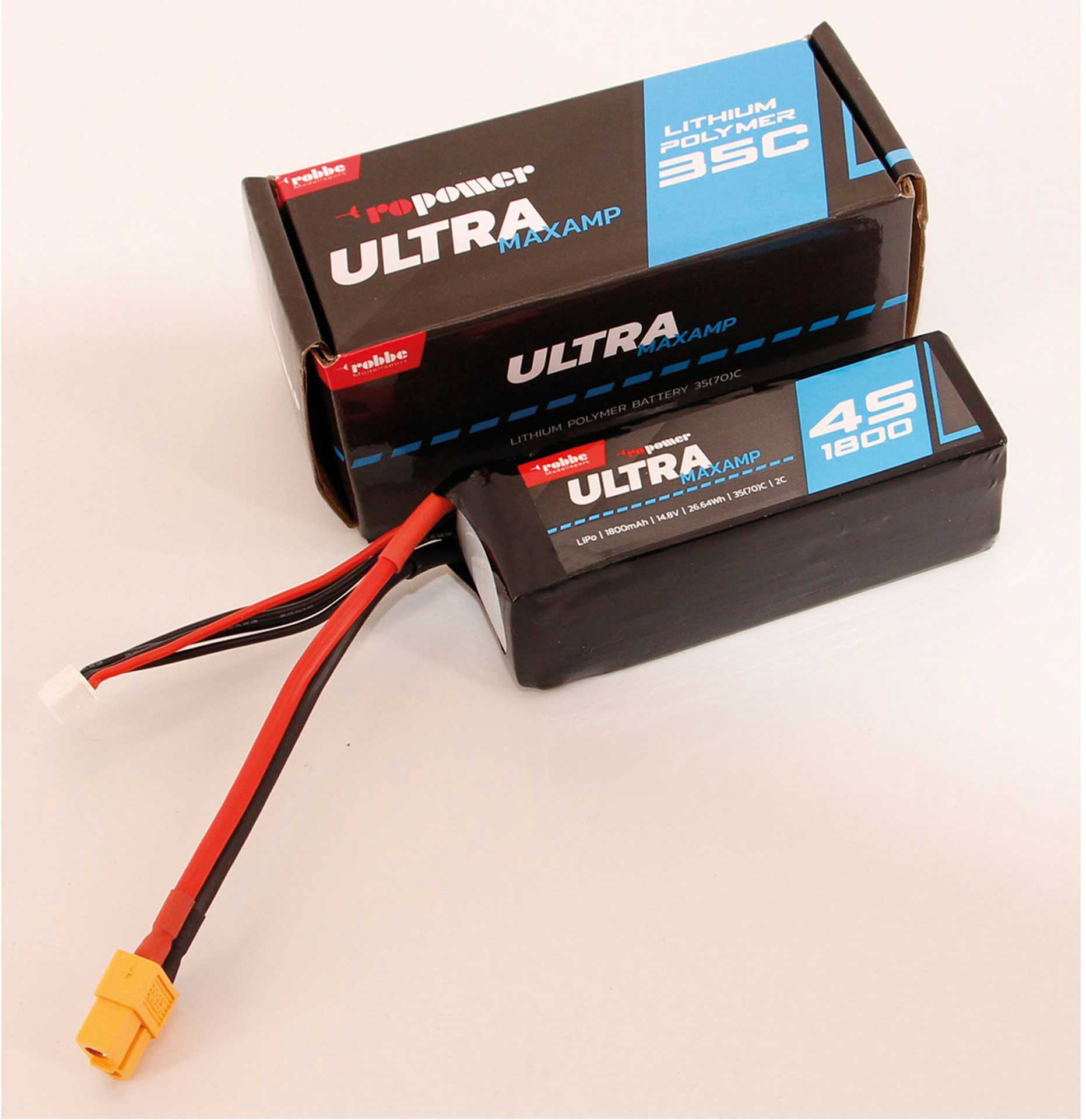 Robbe Modellsport RO-POWER ULTRA MAXAMP 1800MAH 14,8 VOLT 4S 35(70)C LIPO AKKU