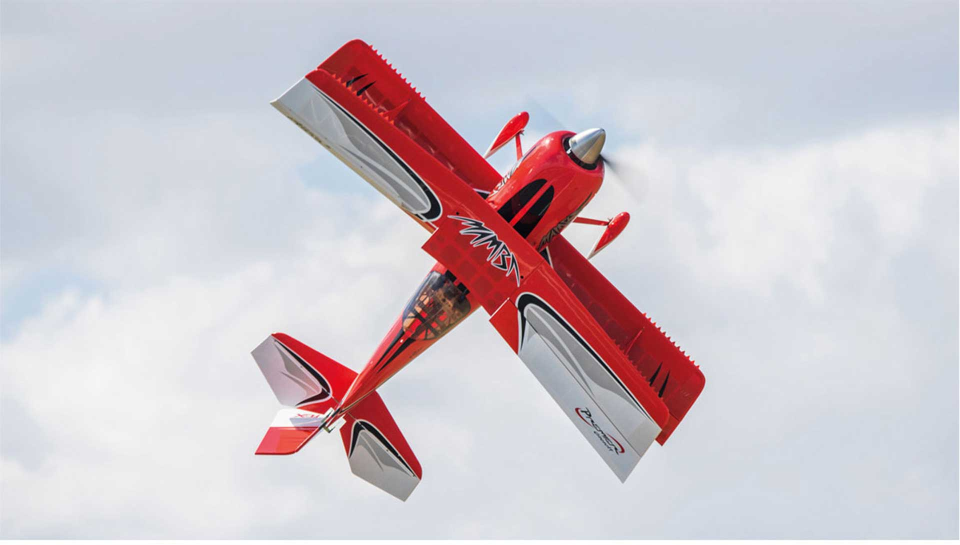 PREMIER AIRCRAFT MAMBA 70CC ARFSV RED BIPLAN WITH SERVOS DIGITAL HV