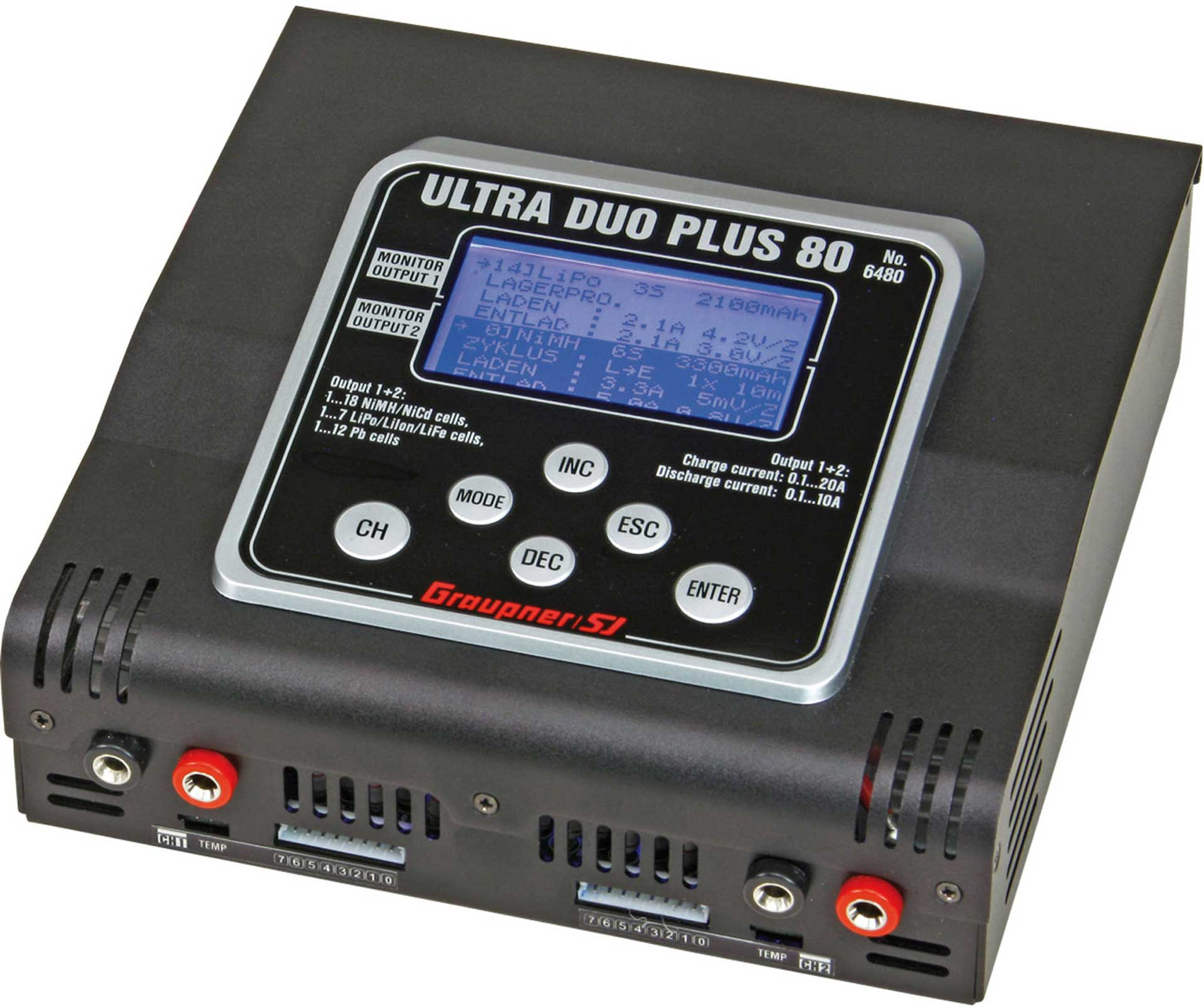 GRAUPNER ULTRA DUO PLUS 80 12V CHARGER 1000W 2X 1-7S
