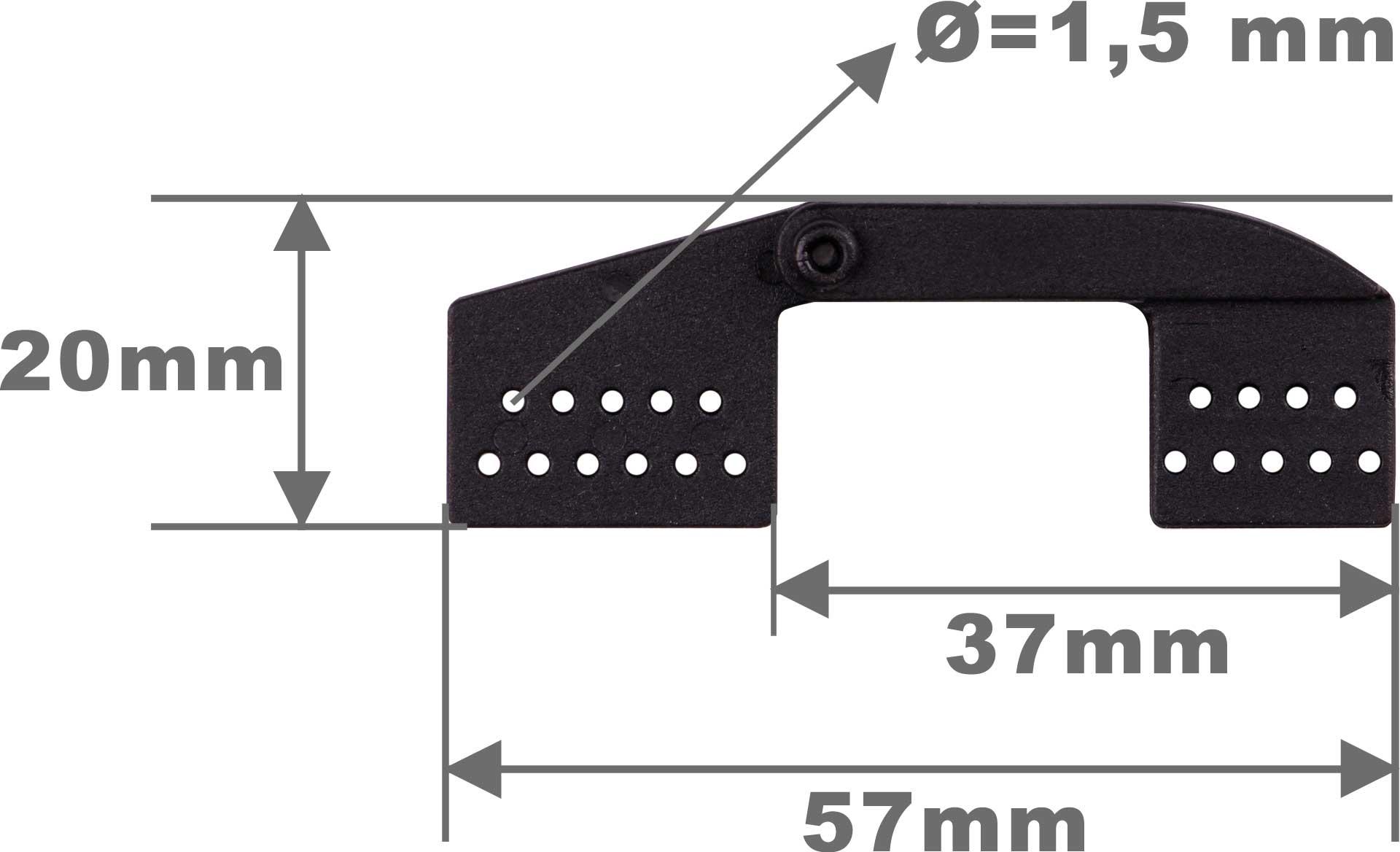 Robbe Modellsport Landeklappen-Scharnier L57mm schwarz Kunststoff 10Stk.