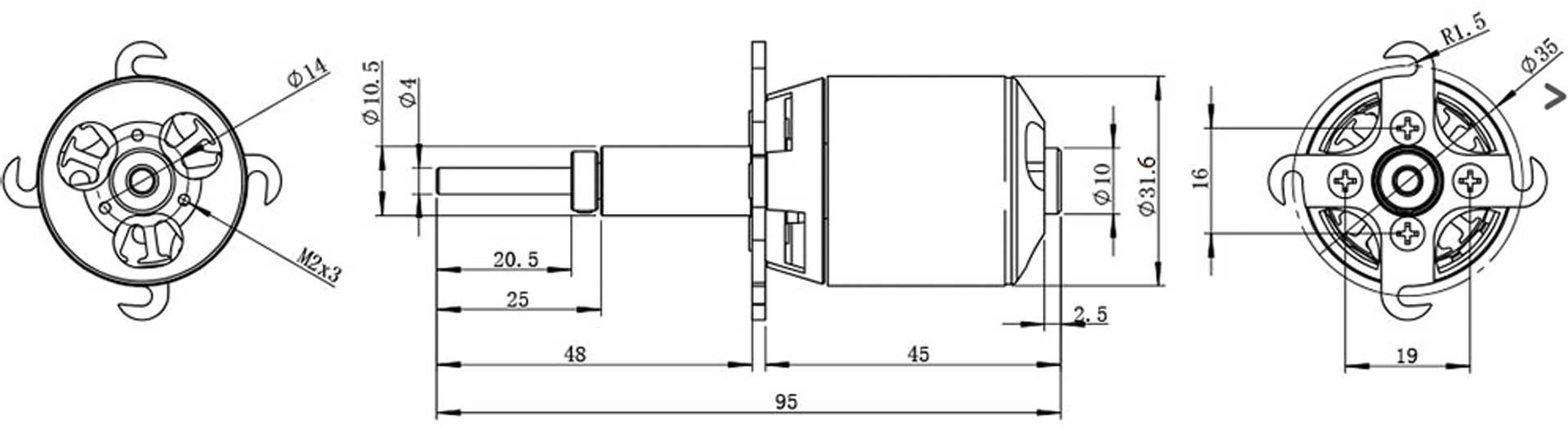 Robbe Modellsport RO-POWER TORQUE LS 3223/10 BRUSHLESS
