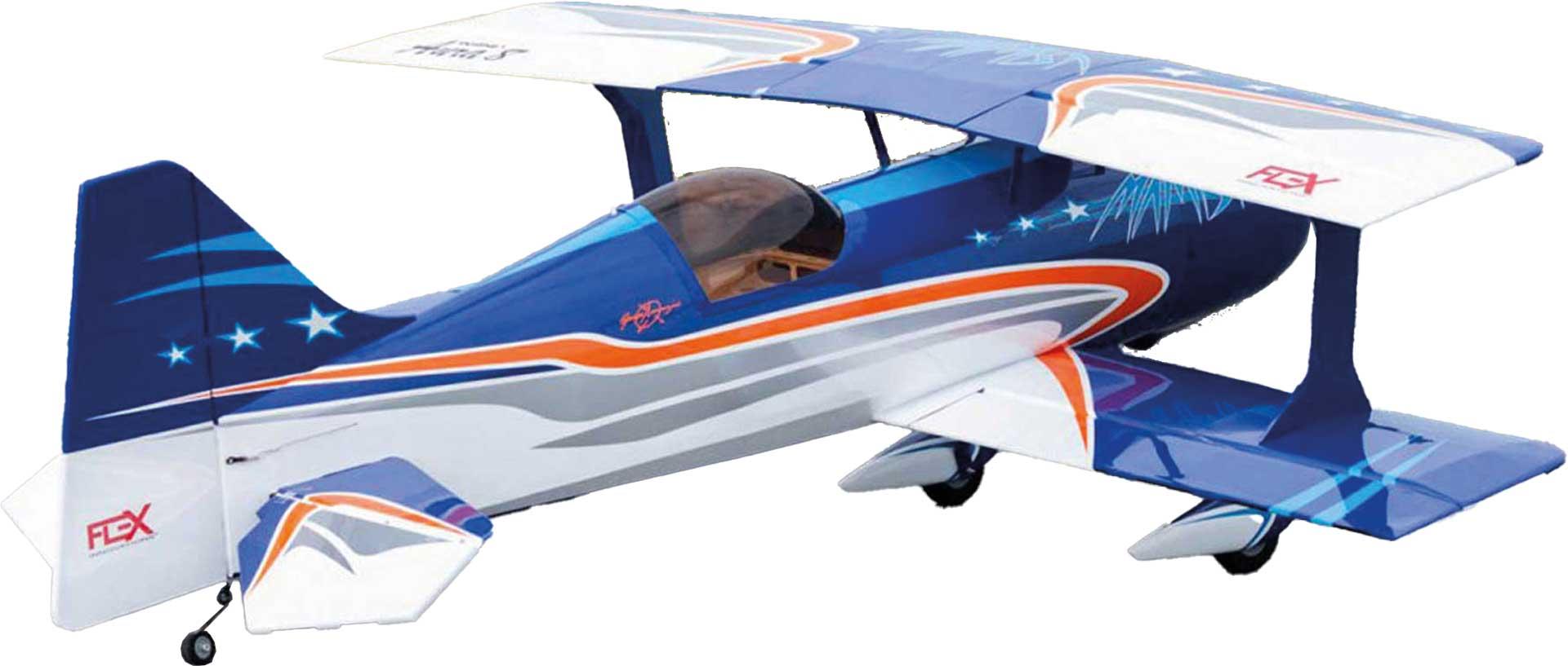 PREMIER AIRCRAFT MAMBA 70CC ARF DOPPELDECKER BLAU