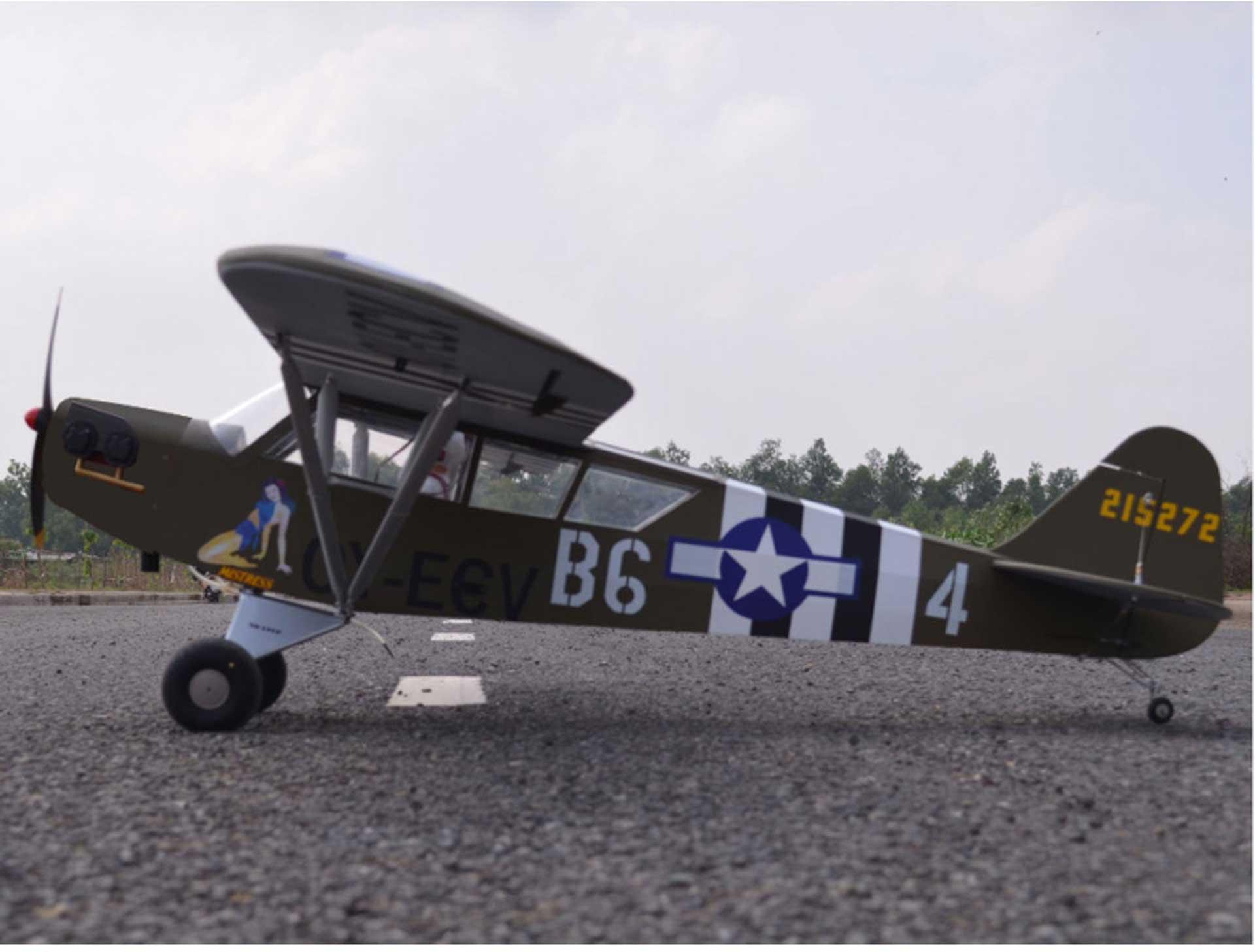 """SG-MODELS L-4 GRASSHOPPER 90"""" ARF 2,28M FÜR VERBRENNER ODER ELEKTROANTRIEBE"""