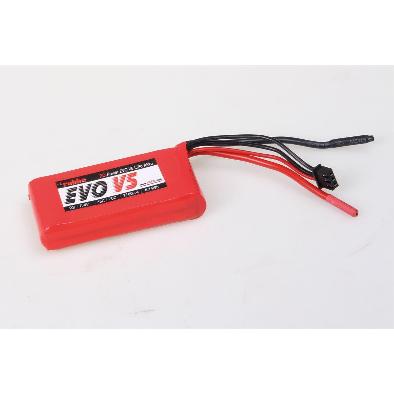 ROBBE RO-POWER EVO V5 35(70)C 7,4 VOLT 2S 1100MAH LIPO AKKU