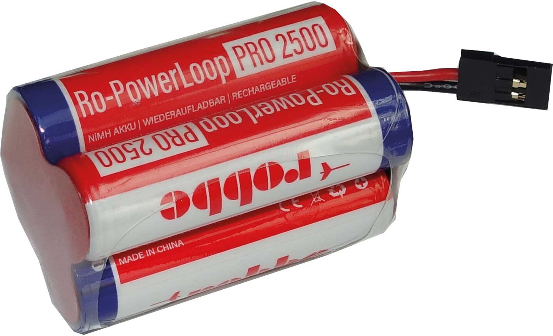 ROBBE RO-POWER LOOP MIGNON AA 2500 MAH 4.8 V RECEIVER BATTERY WITH JR CABLE, CUBE