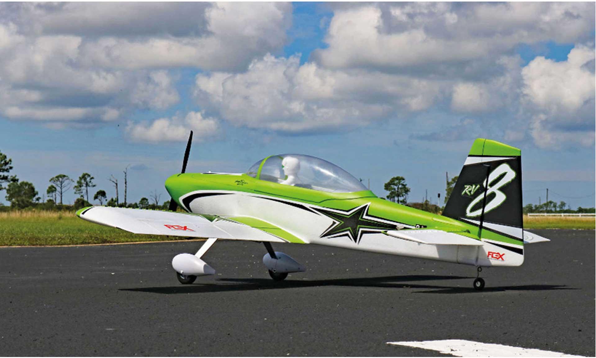 PREMIER AIRCRAFT RV-8 60E Super PNP mit AURA 8 grün