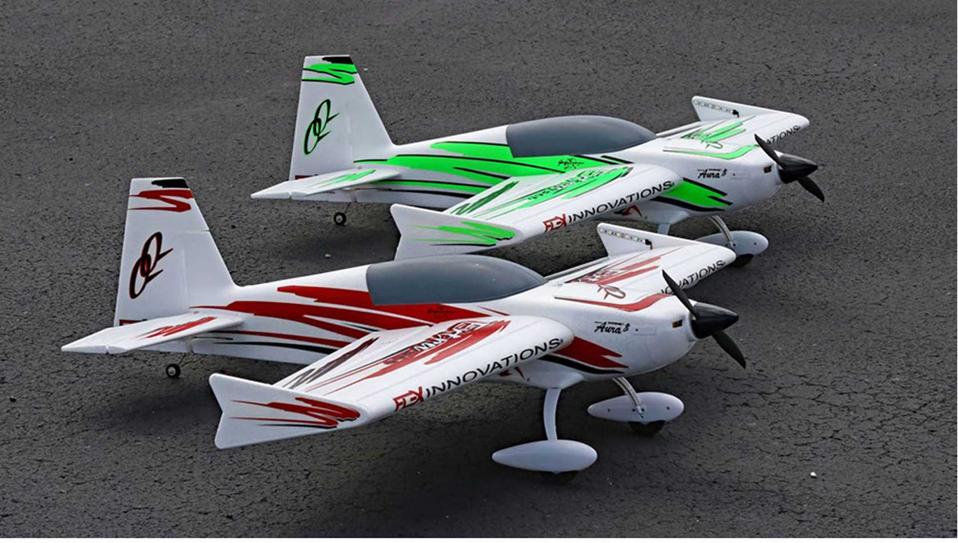 PREMIER AIRCRAFT QQ EXTRA 300 V2 RED/BLACK SUPER PNP WITH AURA 8