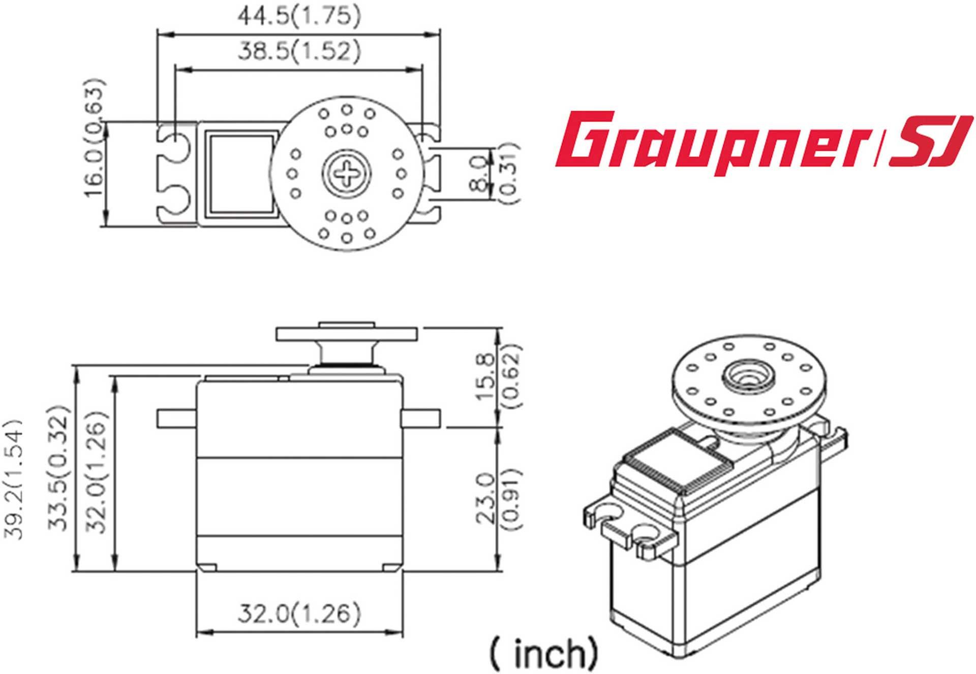 GRAUPNER DES 678 BB MG DIGITAL SERVO