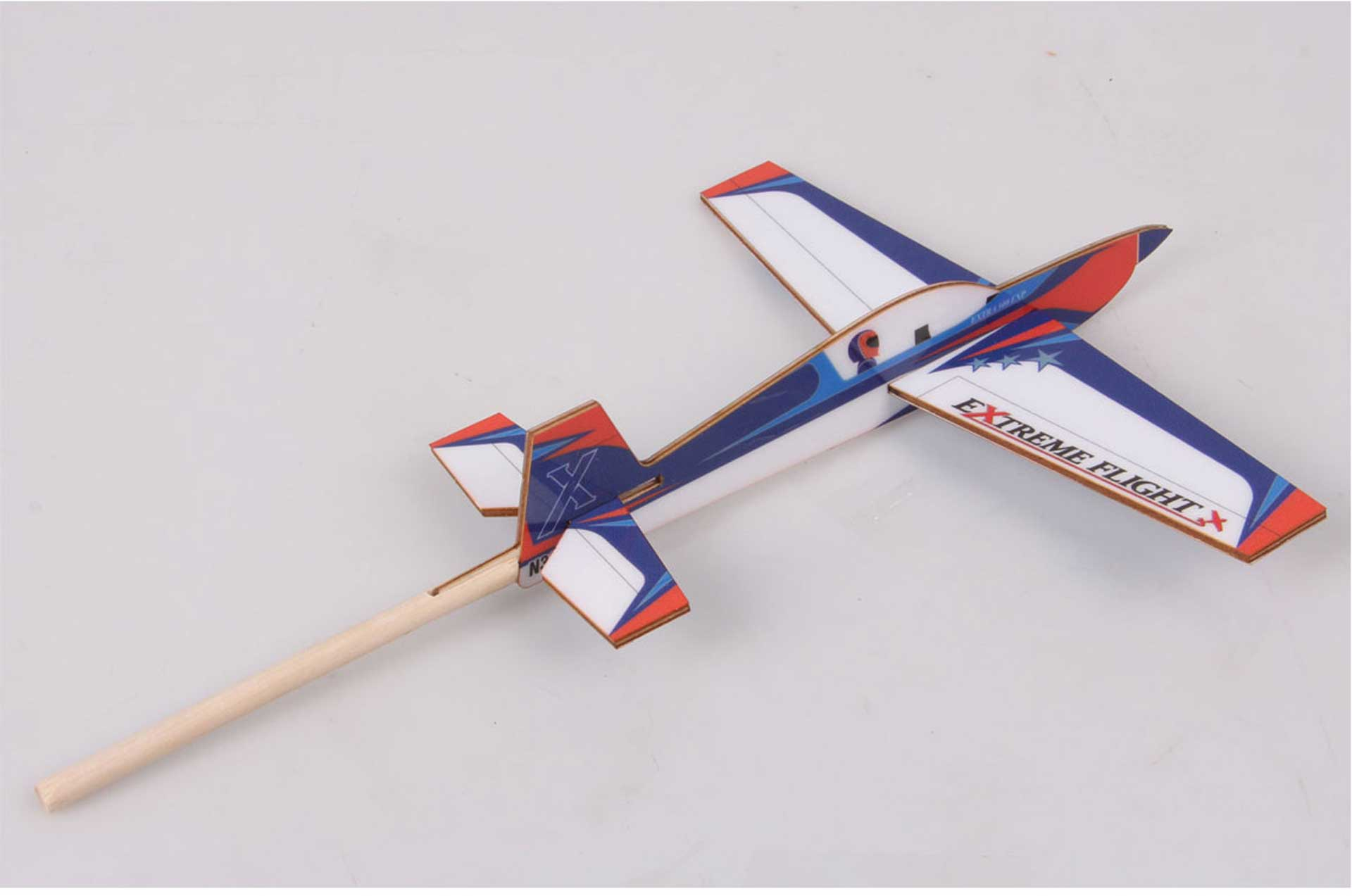 EXTREMEFLIGHT-RC STICK PLANE EXTRA 300 175MM Weiss/Blau/Orange