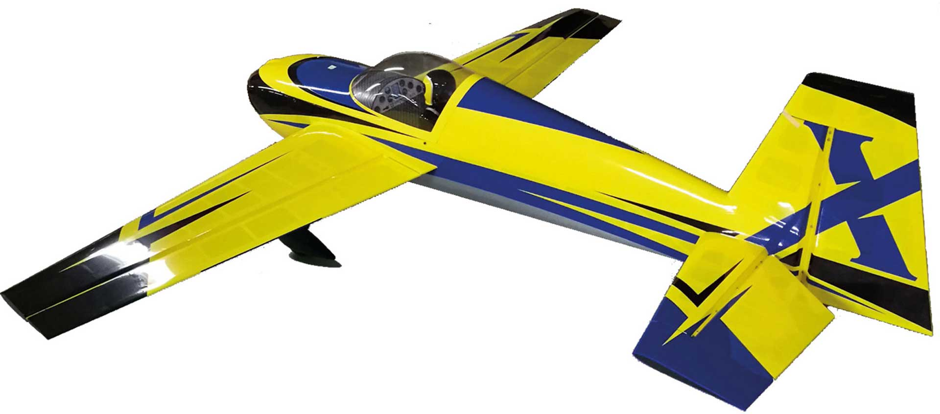 "EXTREMEFLIGHT-RC SLICK 580 105.5"" ARF YELLOW / BLUE"