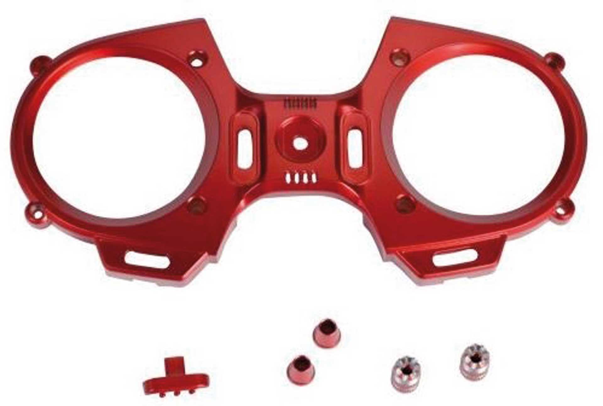 GRAUPNER MZ-12 Frontplatte + Steuerknüooel rot
