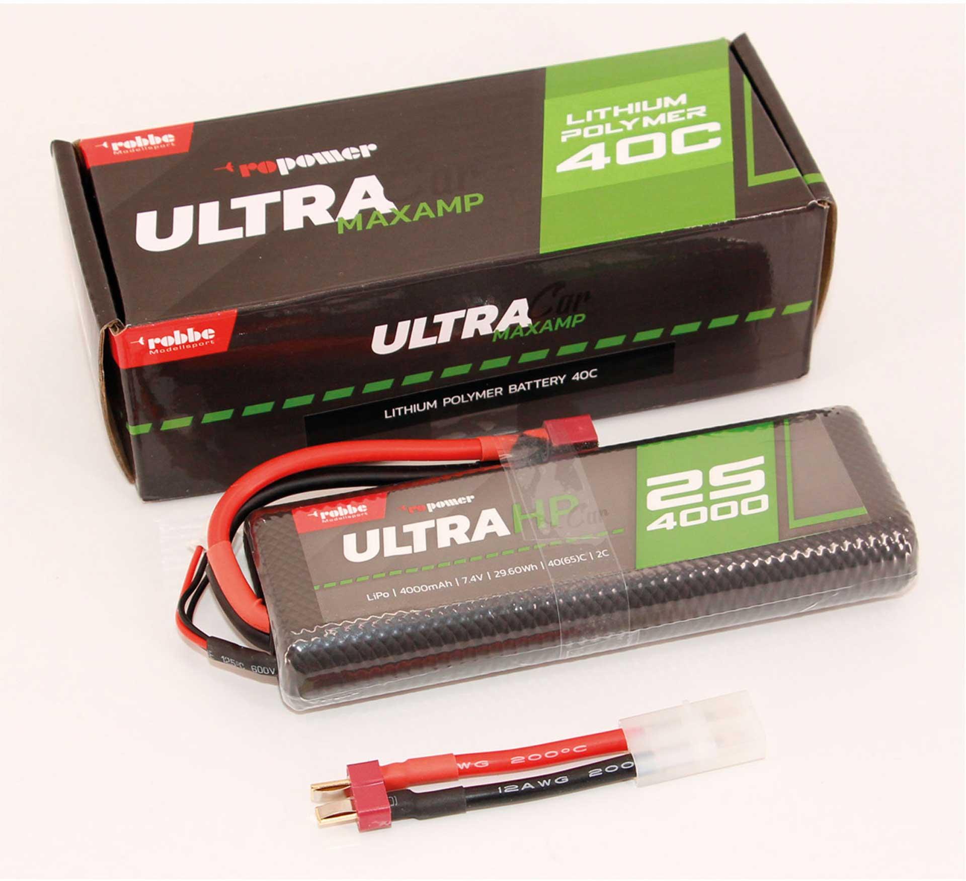 ROBBE RO-POWER ULTRA HP CAR 4000MAH 7,4 VOLT 2S 40(65)C LIPO AKKU