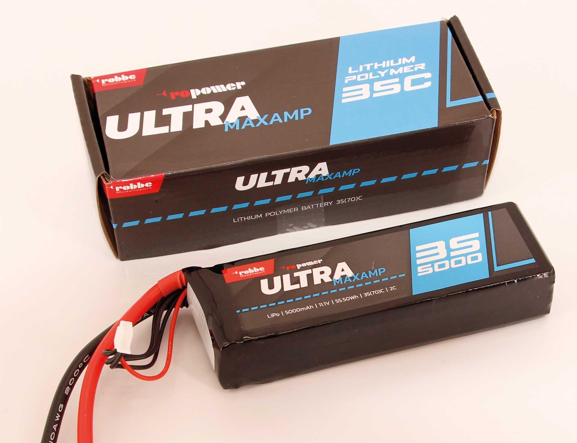 Robbe Modellsport RO-POWER ULTRA MAXAMP 5000MAH 11,1 VOLT 3S 35(70)C LIPO AKKU