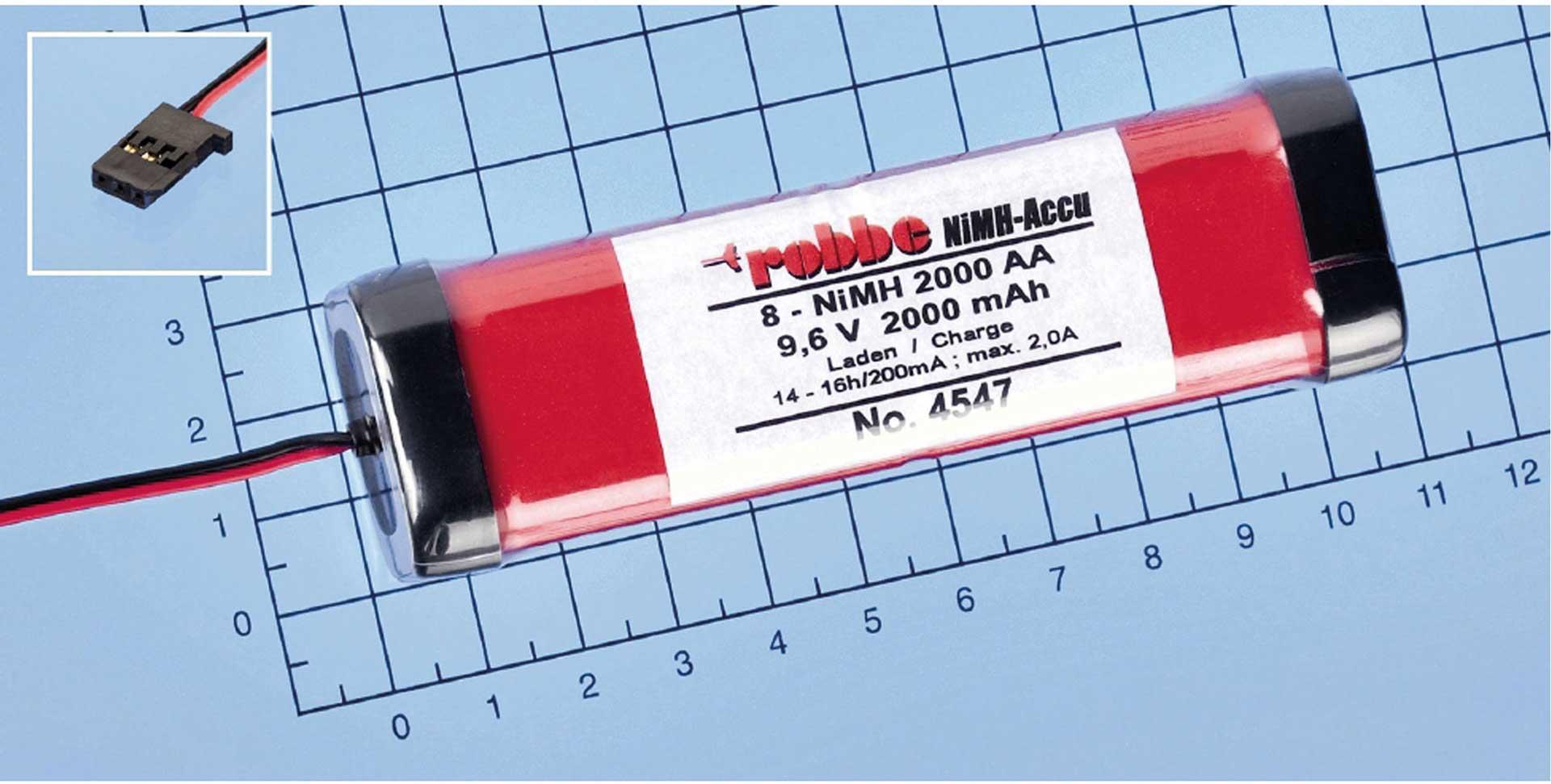 ROBBE SENDERAKKU 9,6V/2000MAH NIMH T7C/T8U/T10