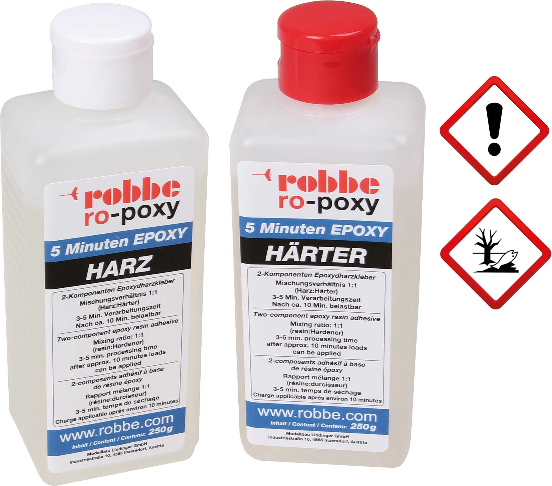 Robbe Modellsport RO-POXY 5 MINUTEN EPOXYDHARZKLEBER 500G JE 250G HARZ+HÄRTER