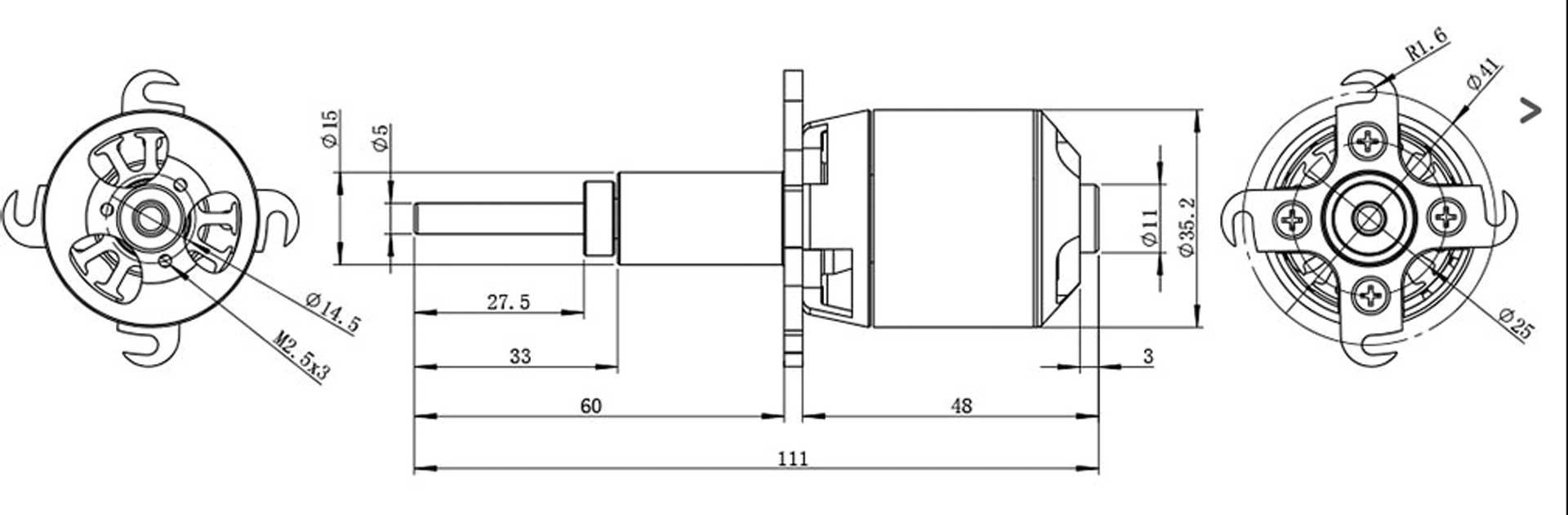 Robbe Modellsport RO-POWER TORQUE LS 3522/5 Brushless Motor