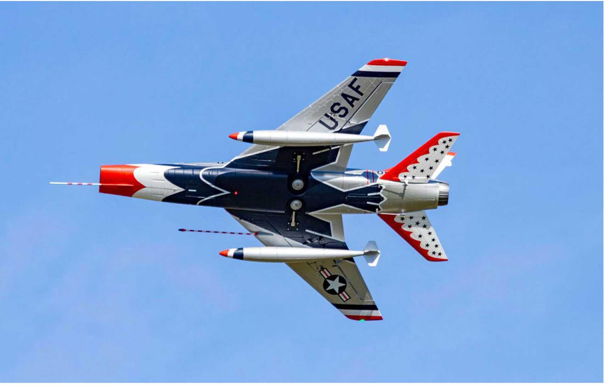 PREMIER AIRCRAFT F-100D SILVER E-IMPELLER JET