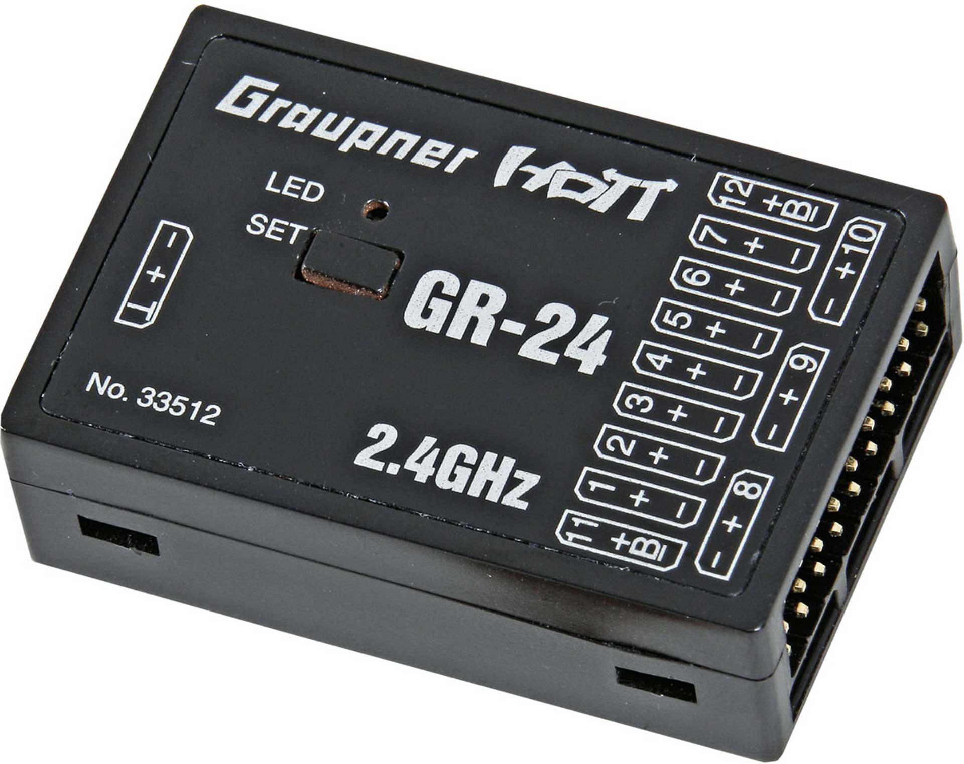 GRAUPNER GR-24 2.4GHZ HOTT 12K RECEIVER