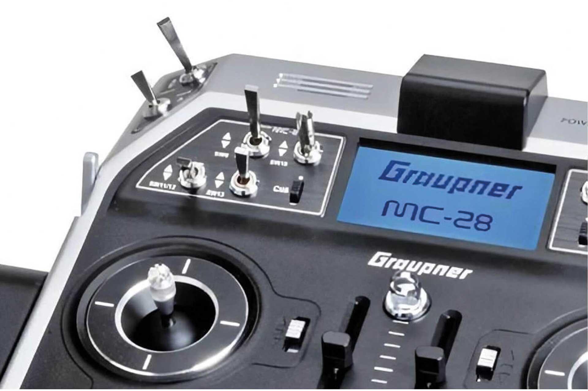 GRAUPNER MC-28 HOTT EINZELSENDER 2,4Ghz FERNSTEUERUNG