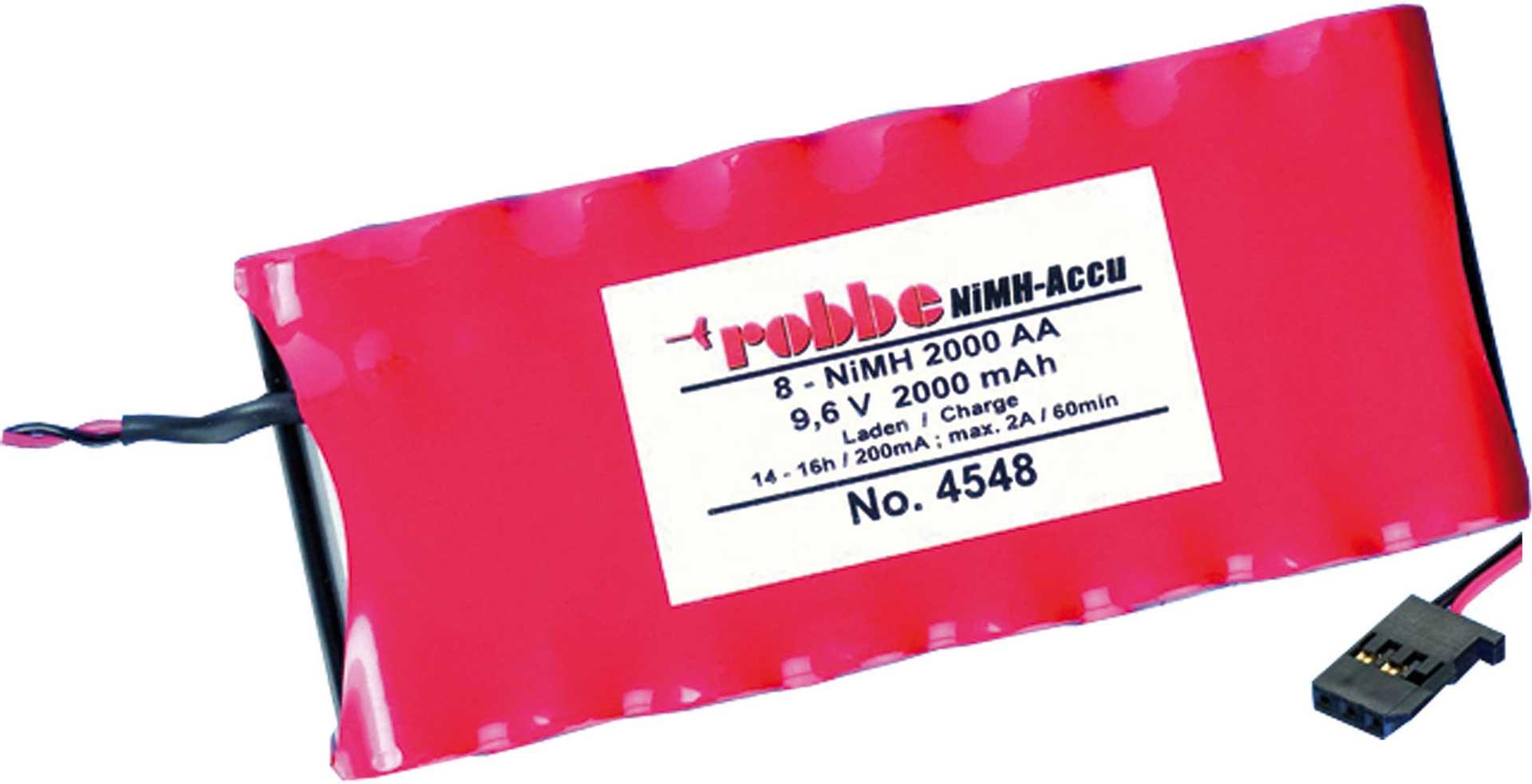 ROBBE SENDERAKKU 2000MAH / 9,6V T4EX, T6, T3G