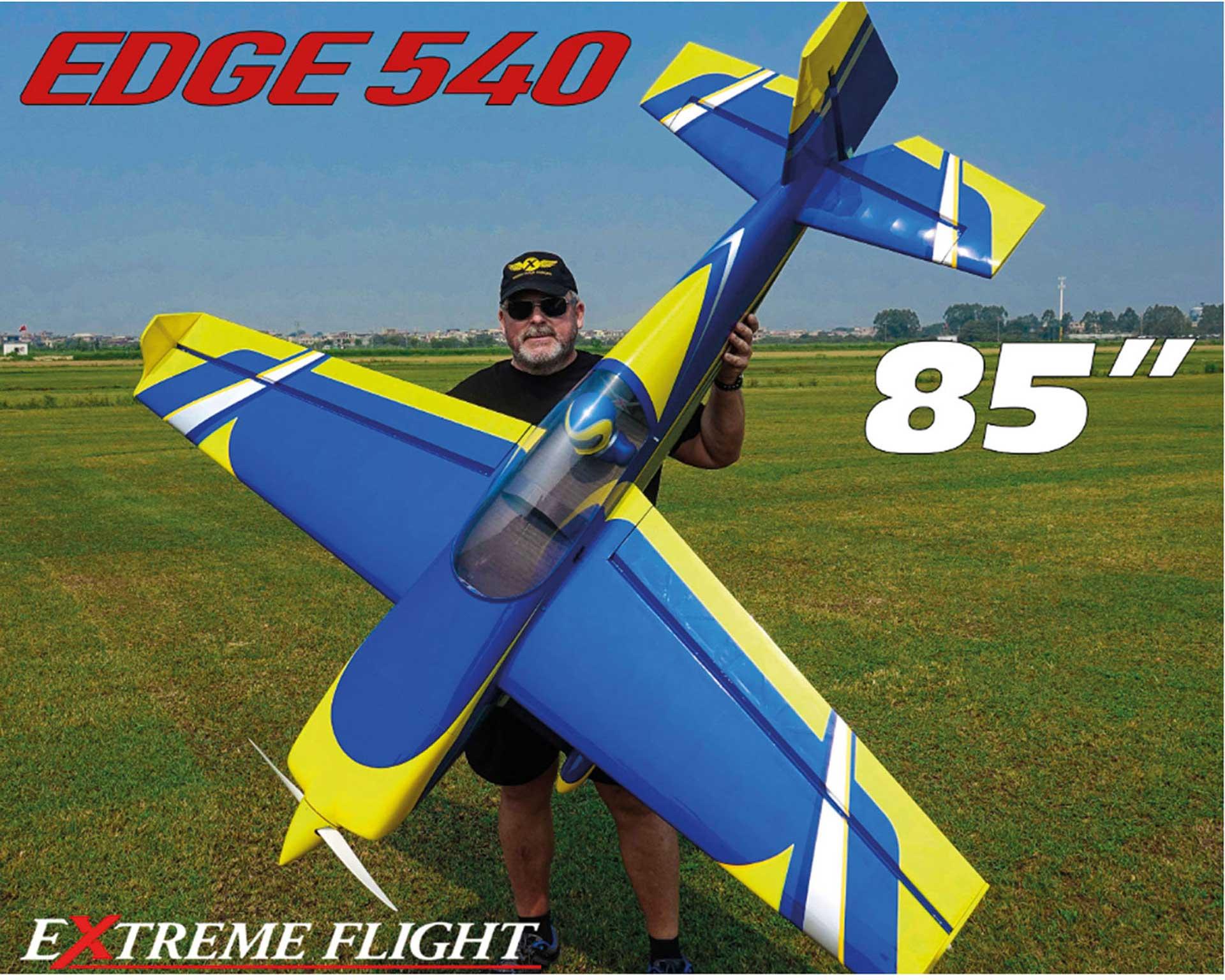 """EXTREMEFLIGHT-RC EDGE 540 85"""" GELB/BLAU ARF"""